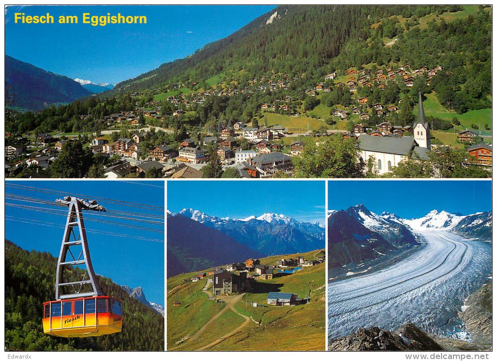 Fiesch, VS Valais, Switzerland Postcard Posted 2000 Stamp - VS Valais