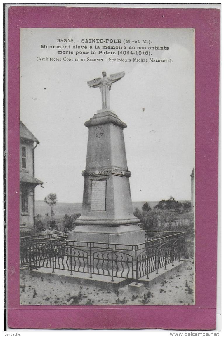 54.- SAINT-POLE .- Monument élevé  à La Mémoire De Ses Enfants - Francia
