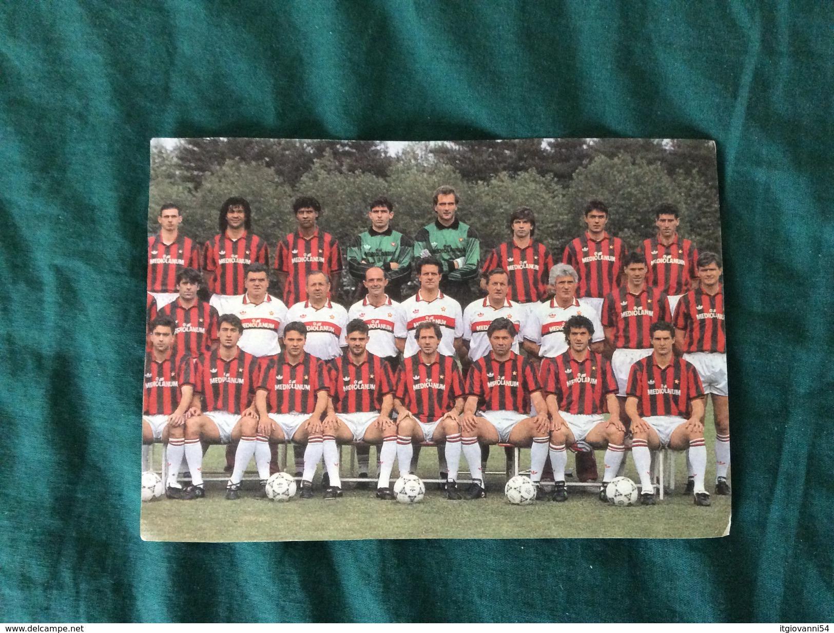 Cartolina Rosa Milan Campione D'Italia 1991-92 Con L'annullo 1° Giorno - Fútbol