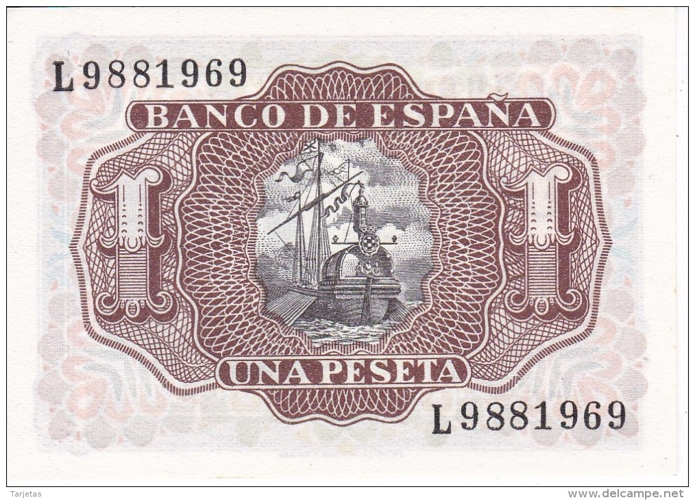 BILLETE DE 1 PTA DEL 22/07/1953 SERIE L SIN CIRCULAR-UNCIRCULATED (BANKNOTE) - [ 3] 1936-1975 : Régimen De Franco