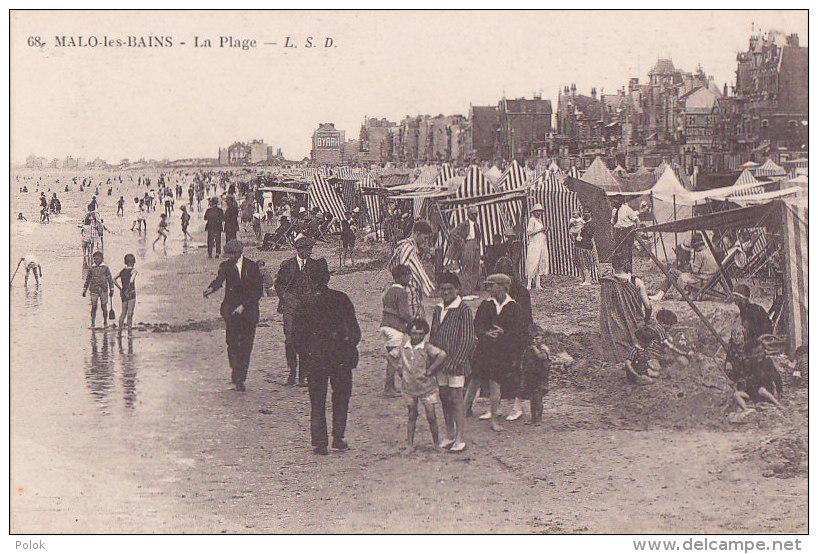Bf - Cpa MALO Les BAINS - La Plage - Malo Les Bains