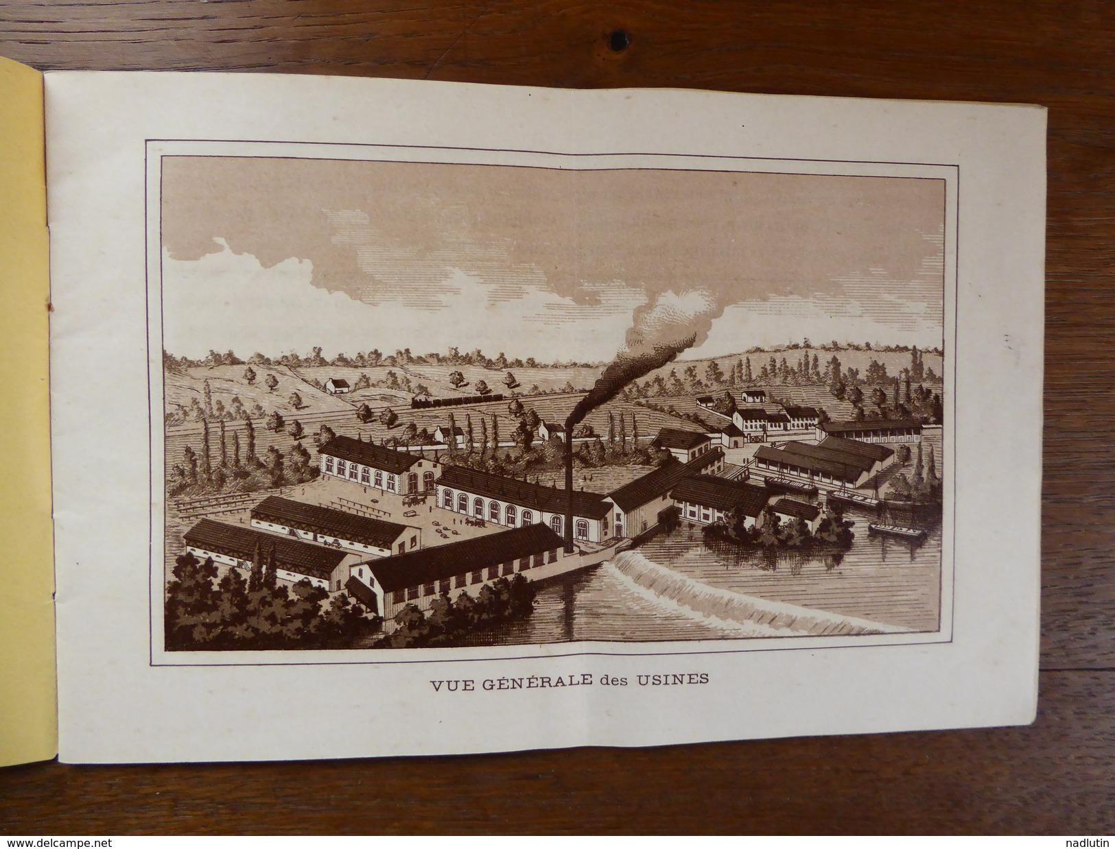 """Livret Publicitaire """"Manufacture Des Chaussures"""" Usine De Neuvic Sur L' Isle - Dordogne -1900 - Textile & Vestimentaire"""