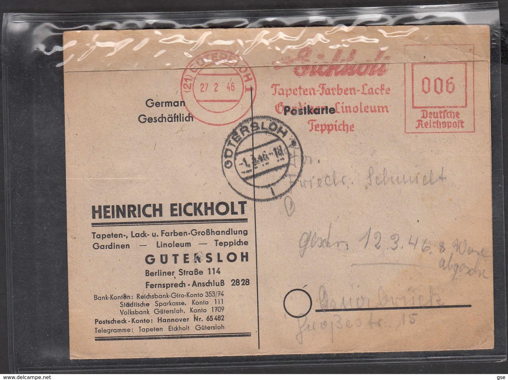 GERMANIA  1946 - H. EICKHOLT - Prodotti Arredamento Per La Casa - Fabbriche E Imprese