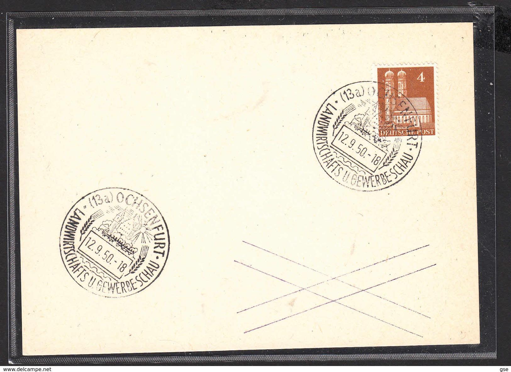GERMANIA  1950 - Landwirtschafts U. Gewerbe-Schau - Fabbriche E Imprese