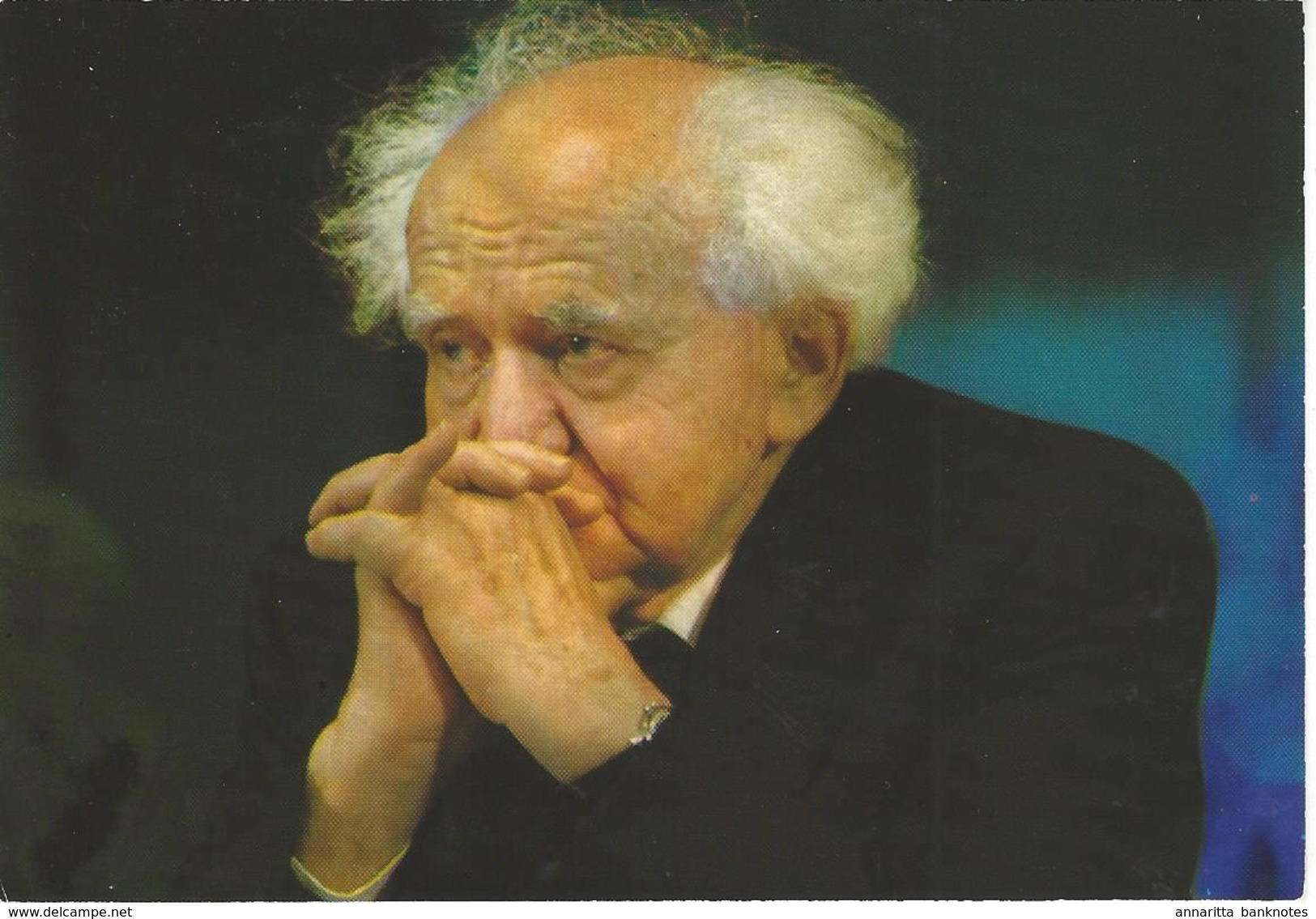 David Ben Gurion With Stamps On Back 1984 - Palphot 12414 - Israel