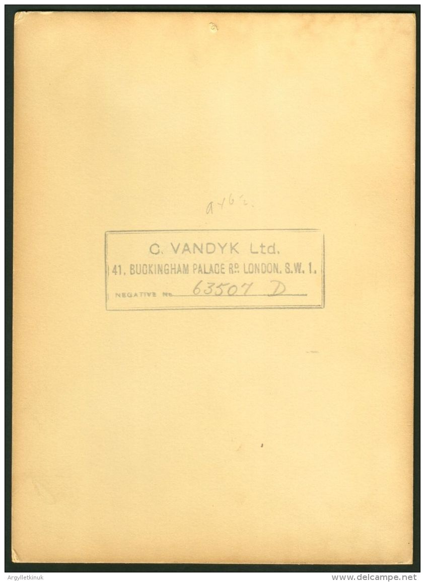 LARGE ORIGINAL STUDIO PHOTO PRINCE HENRY OF GLOUCESTER BY  VANDYK - Unclassified