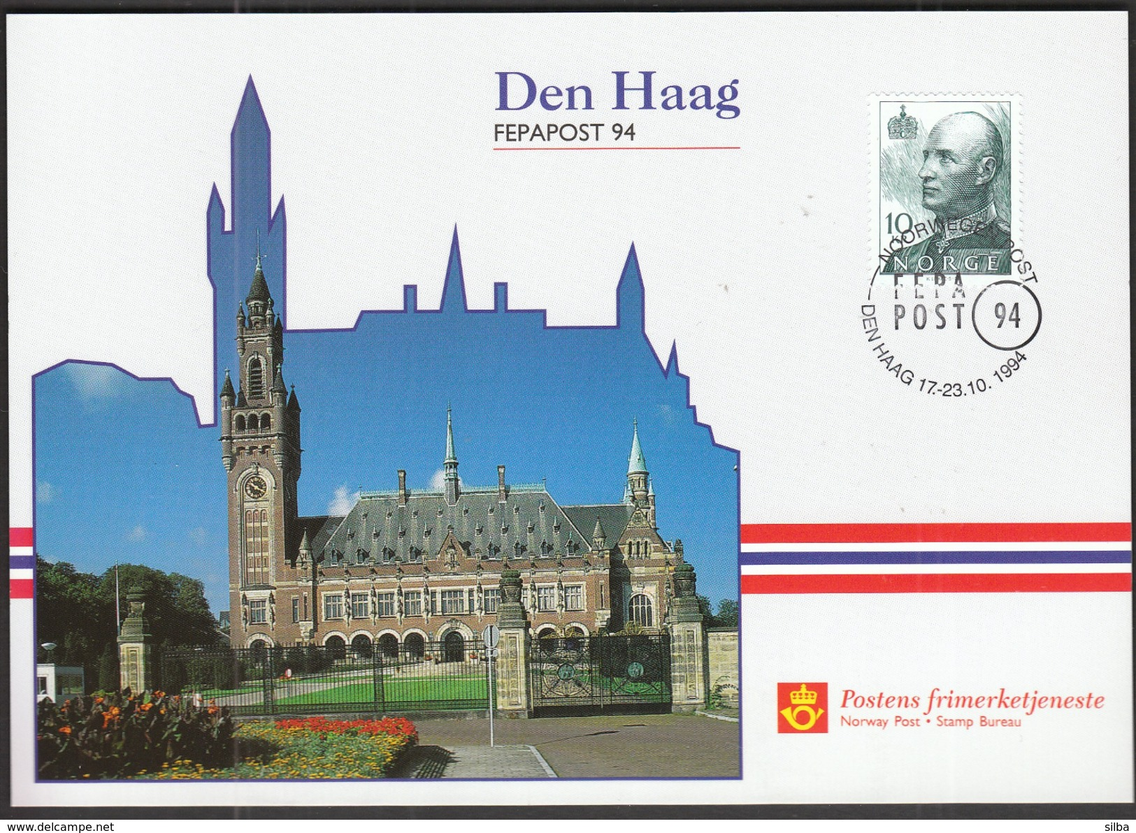Norway 1994 / Philatelic Exhibition FEPAPOST Den Haag / MC - Exposiciones Filatélicas