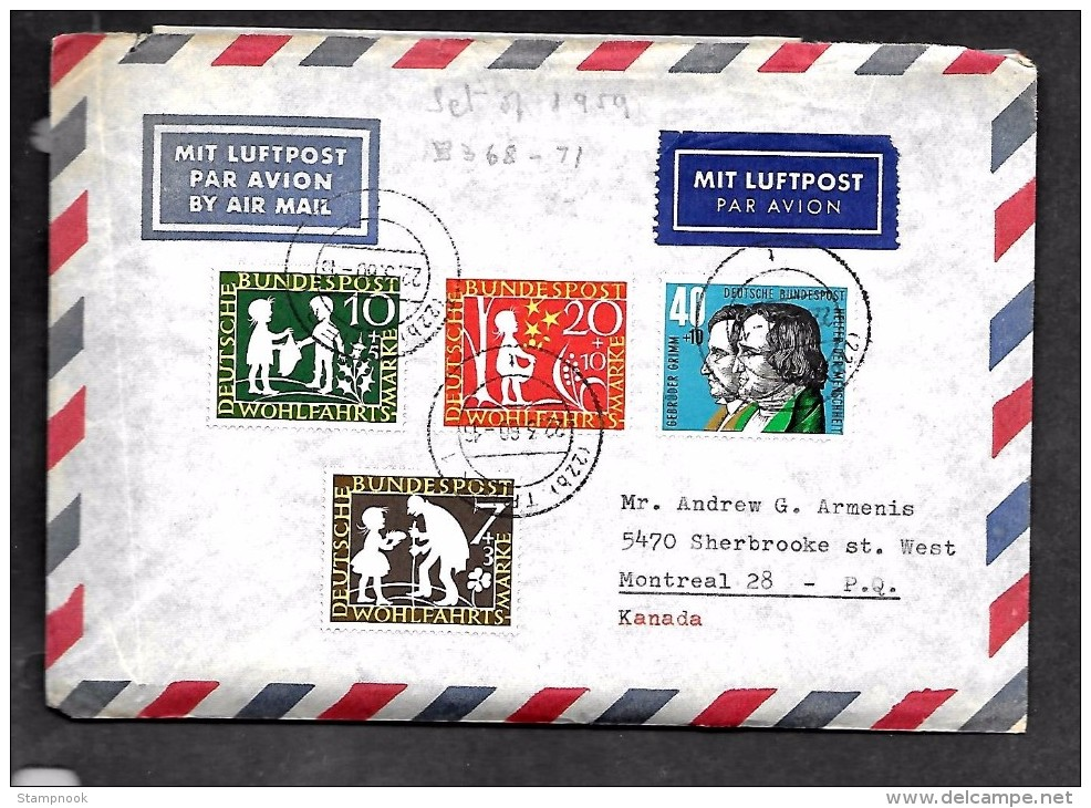 Germany Scott   B368-71 Cover VF  ( Cat Value 5.55 + - [7] Federal Republic