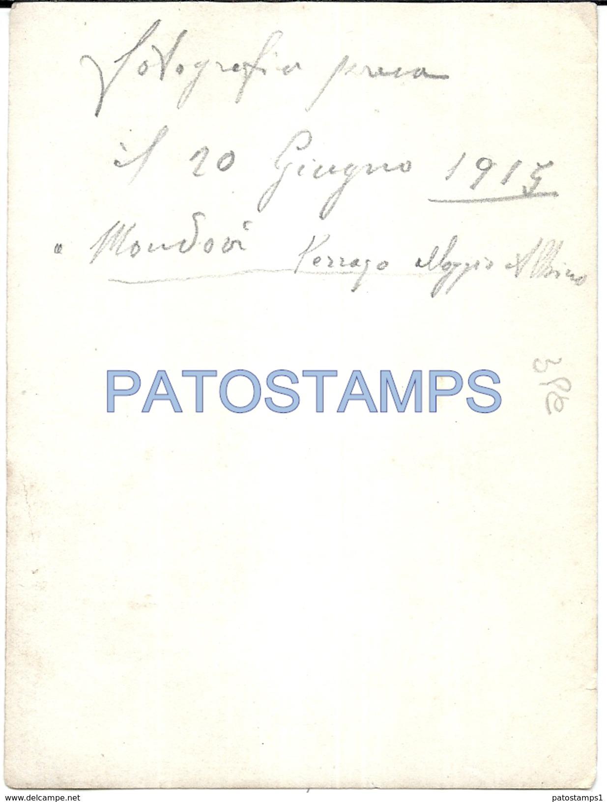63027 ITALY MONDOVI CUNEO PARISH PRIEST YEAR 1915 PHOTO NO POSTAL TYPE POSTCARD - Fotografía