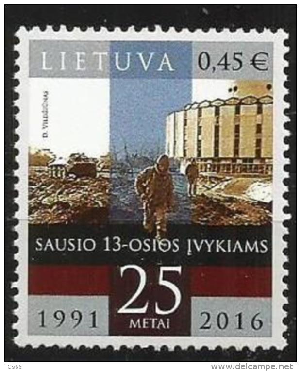 Litauen, 2016, 1210,  25. Jahrestag Der Ereignisse Vom 13. Januar 1991. MNH ** - Lithuania