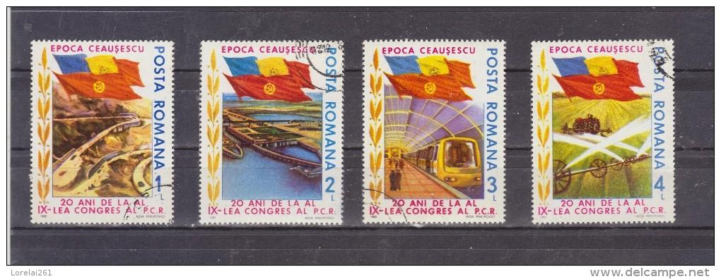 1985 -  20 ANNIV. DU 9 CONGRES DU P.C.R.  MI No 4165-4168 Et Yv No 3593/3596 - 1948-.... Repúblicas