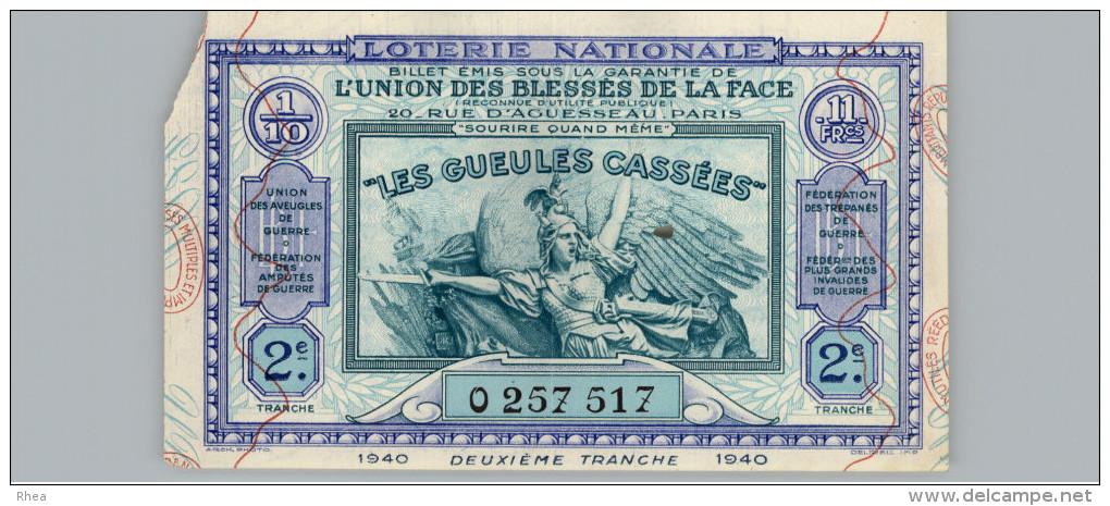 LOTERIE -  Billet De Loterie Nationale - - Billets De Loterie