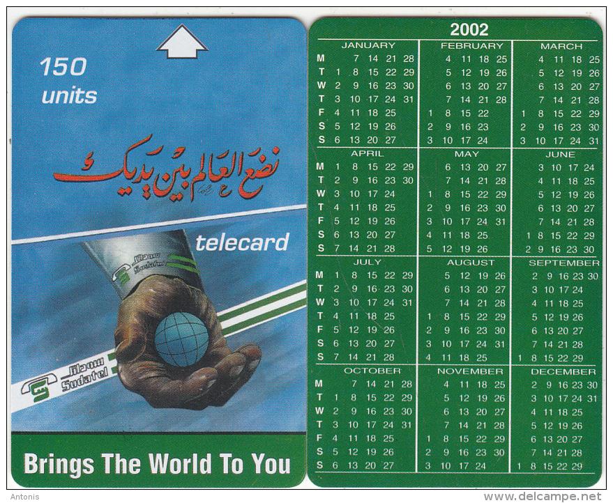 SUDAN - Calendar 2002, Sudatel Telecard 150 Units, Sample(no Chip, No CN) - Sudan