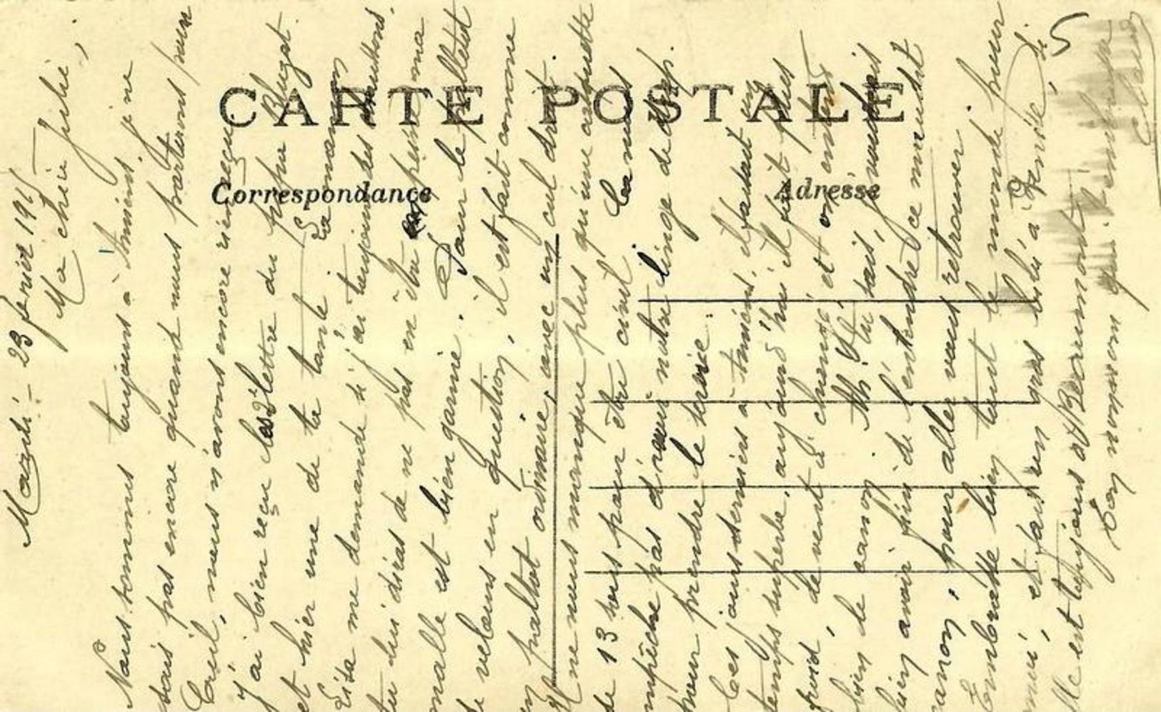 05 - CPA - Guerre 1914-15 - Près D'AMIENS - Voie Ferrée Détruite Par Les Allemands - 1915 -  (n&b) - - Guerre 1914-18