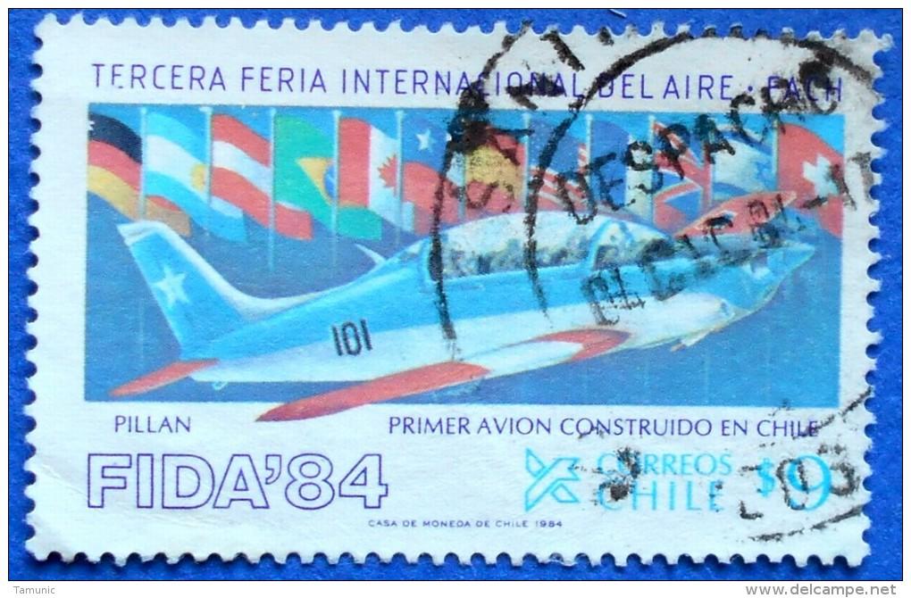 CHILE PLANE AIRPLANE AIRCRAFT(PILLAN PRIMER AVION) 9 $ 1984 - USED - Avions