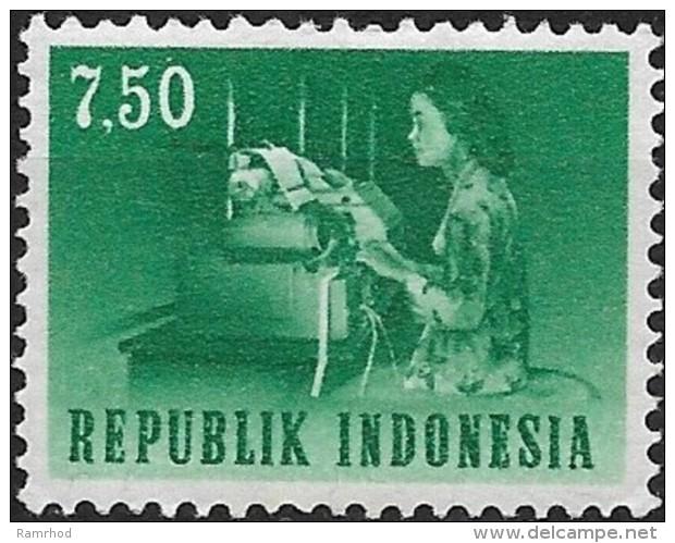 INDONESIA 1964 Transport & Communication - 7r50 Teletypist MNH - Indonesien