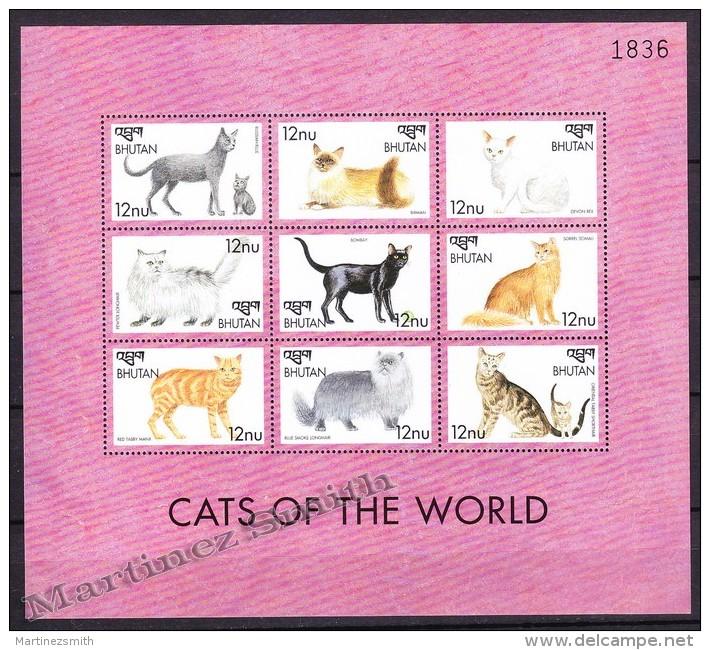 Bhutan - Bhoutan 1999 Yvert 1450- 58, Fauna, Domestic Animals - Cats - MNH - Bhután