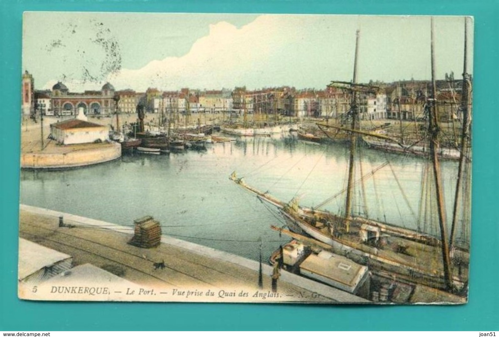 C4  DUNKERQUE VUE PRISE DU QUAI DES ANGLAIS 1914 - Dunkerque