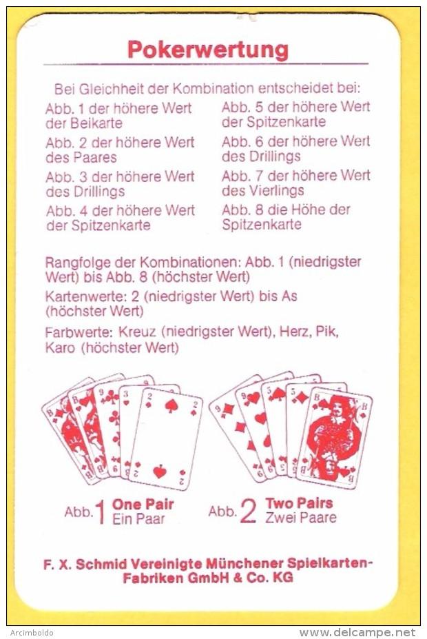 Points Du Poker En Allemand (deutsch) Pokerwertung  F.X. Schmid Munchen - Kartenspiele (traditionell)