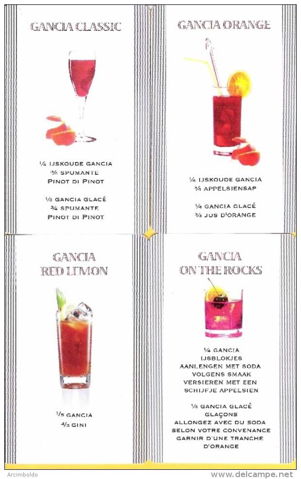 Gancia : 4 Cartes Classique Avec Recette De Cocktail - Kartenspiele (traditionell)