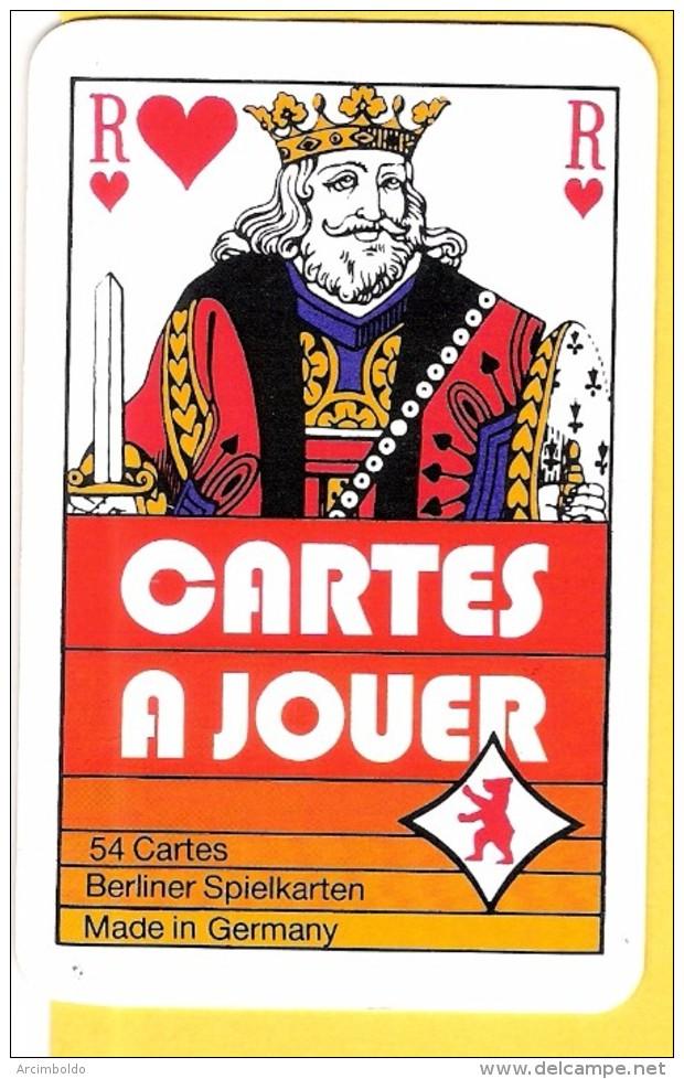 Cartes à Jouer Avec Roi De Coeur Berliner Spielkarten  - Verso CSC Metal Syndicat, Roue Dentée - Kartenspiele (traditionell)