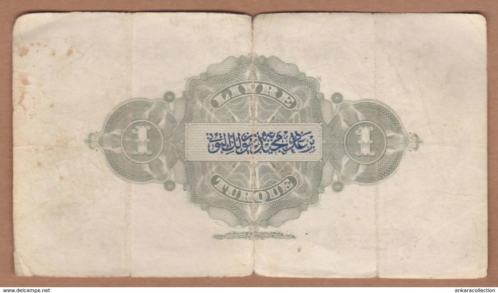 AC - OTTOMAN TURKEY - 1 LIVRE No 015 14 47 FINE+ MEHMED RESAD 1332 - Turkije