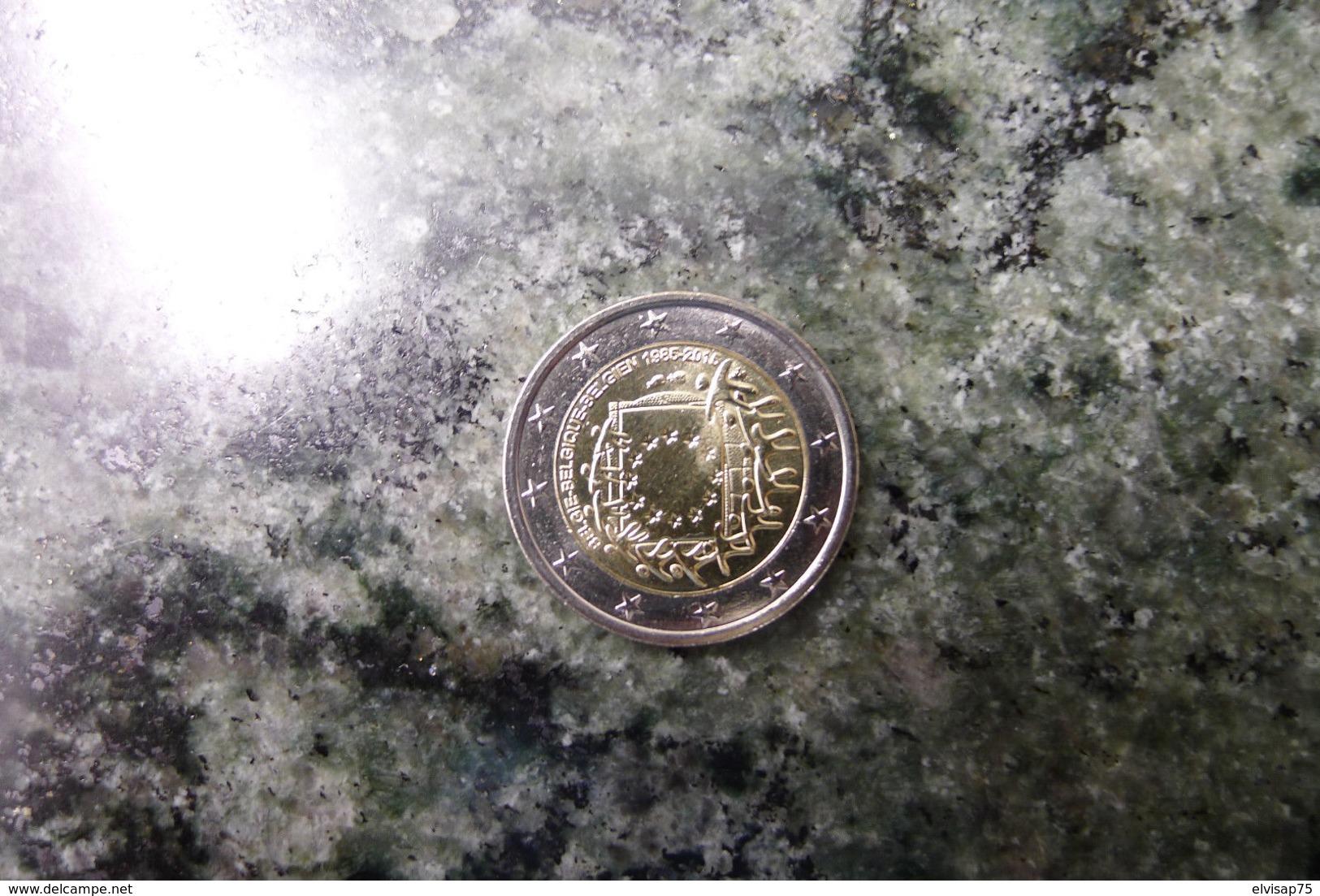 2 Euro CC Gedenkmünze Belgium Flag 2015 - Bélgica