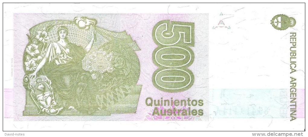Argentina - Pick 328b - 500 Australes 1988 - 1990 - Unc - Argentine