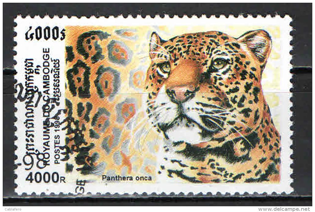 CAMBOGIA - 1998 - PANTERA ONCA - USATO - Kambodscha