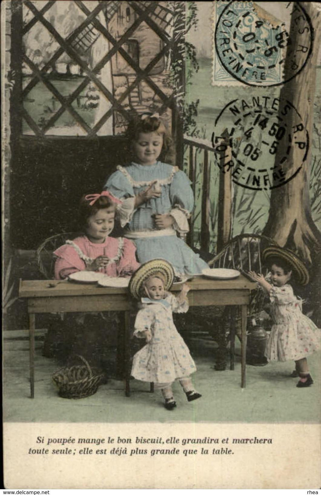 POUPEES - Fantaisie - Jouets - Fantaisie Enfants - Belle Série De 4 Cartes - Jeux Et Jouets