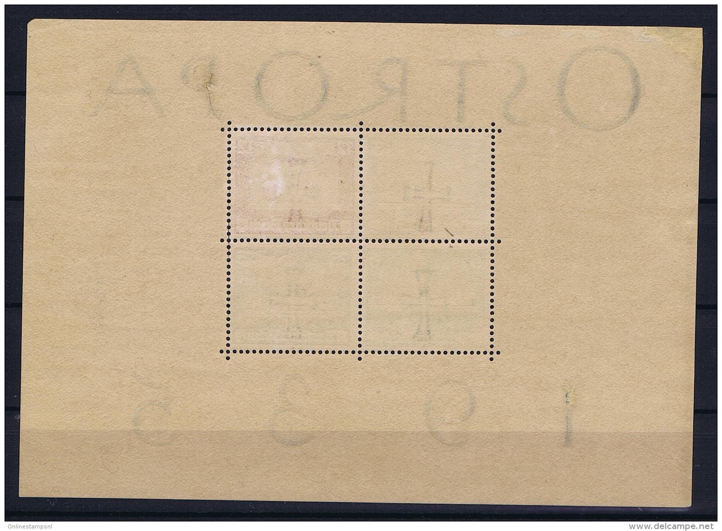Reich: 1935 OSTROPA Block Nr 3  Not Used (*) SG - Deutschland