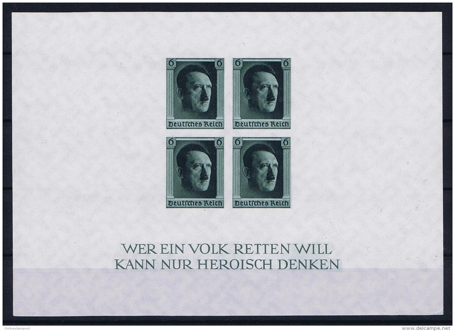Reich: Mi Block Nr 8 MNH/**/ Postfrisch - Blocks & Kleinbögen