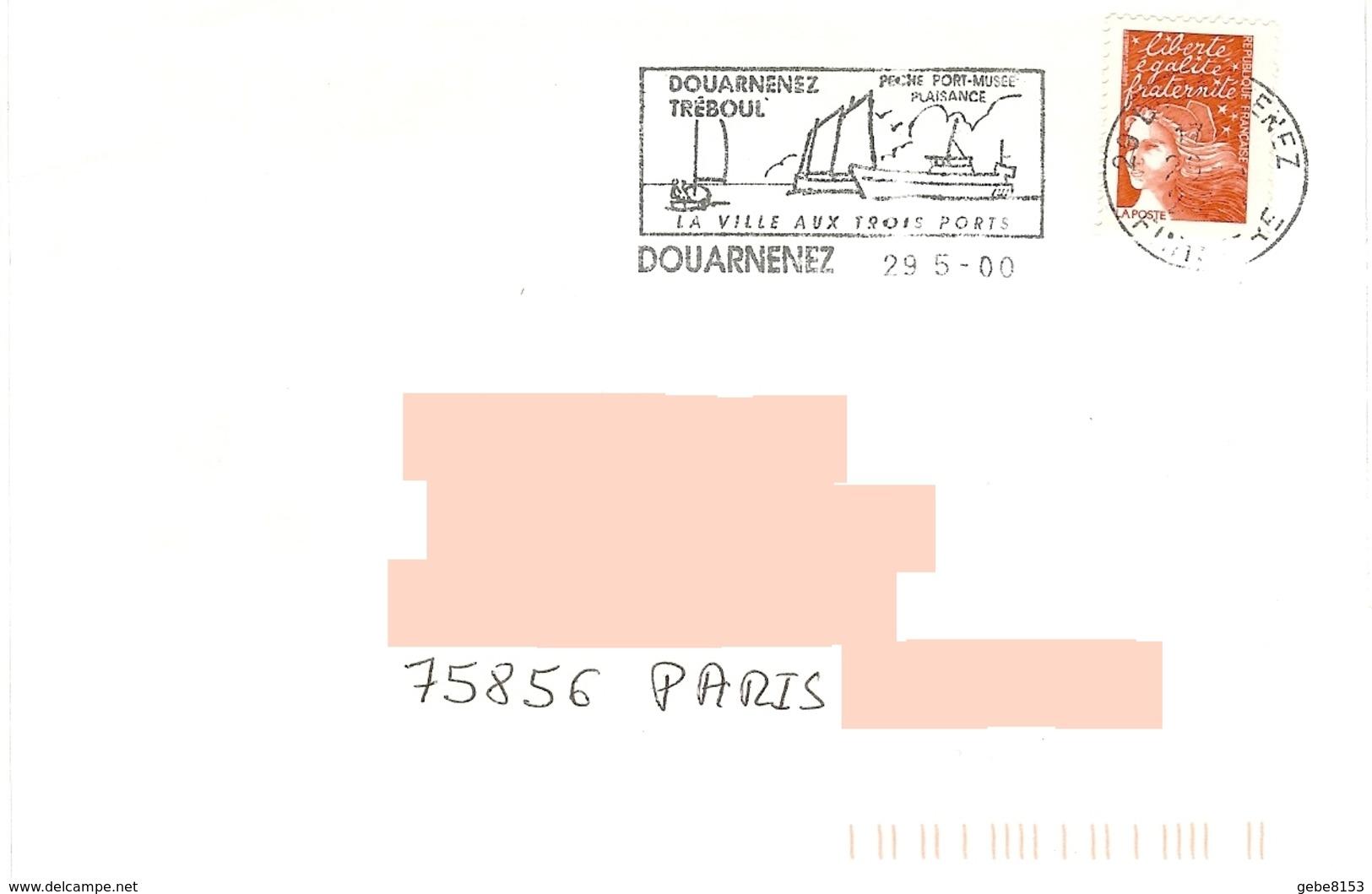 Flamme Douarnenez Tréboul Finistère Port Pêche Musée Plaisance Bateau Mer Océan - Boten