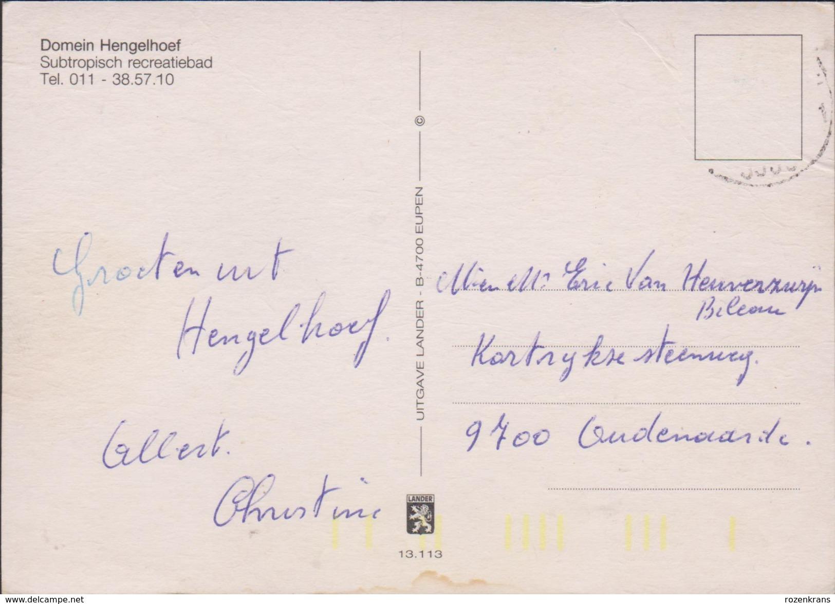 Grote Kaart Domein Subtropisch Recreatiebad Hengelhoef Houthalen Helchteren Limburg (kreuk) - Houthalen-Helchteren