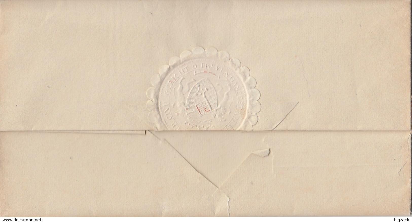 Bremen Brief Segmentstempel Bremen 12.12.1848 Gel. Nach Blomberg - Bremen