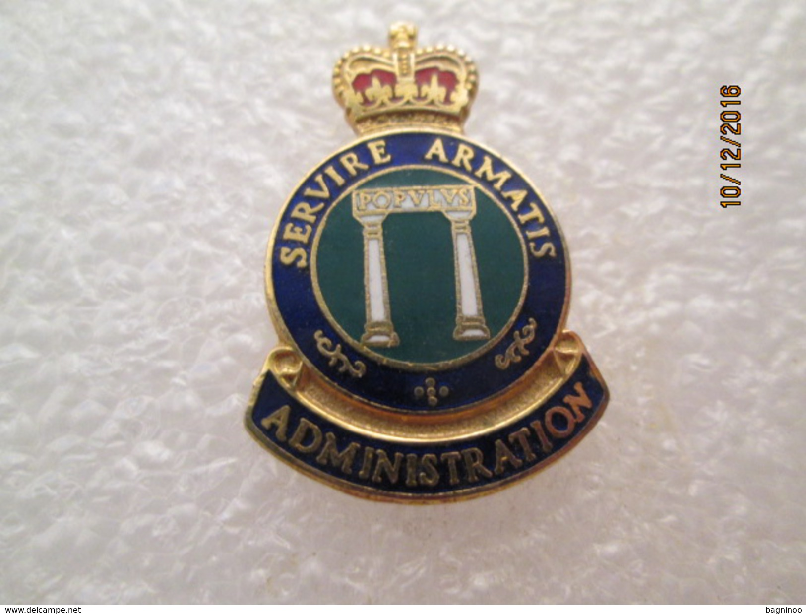 Servire Armatis Administration Canadian Military - Administrations