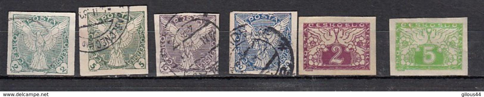 Tchecoslovaquie  Timbre Pour Journaux 6 Valeurs - Newspaper Stamps