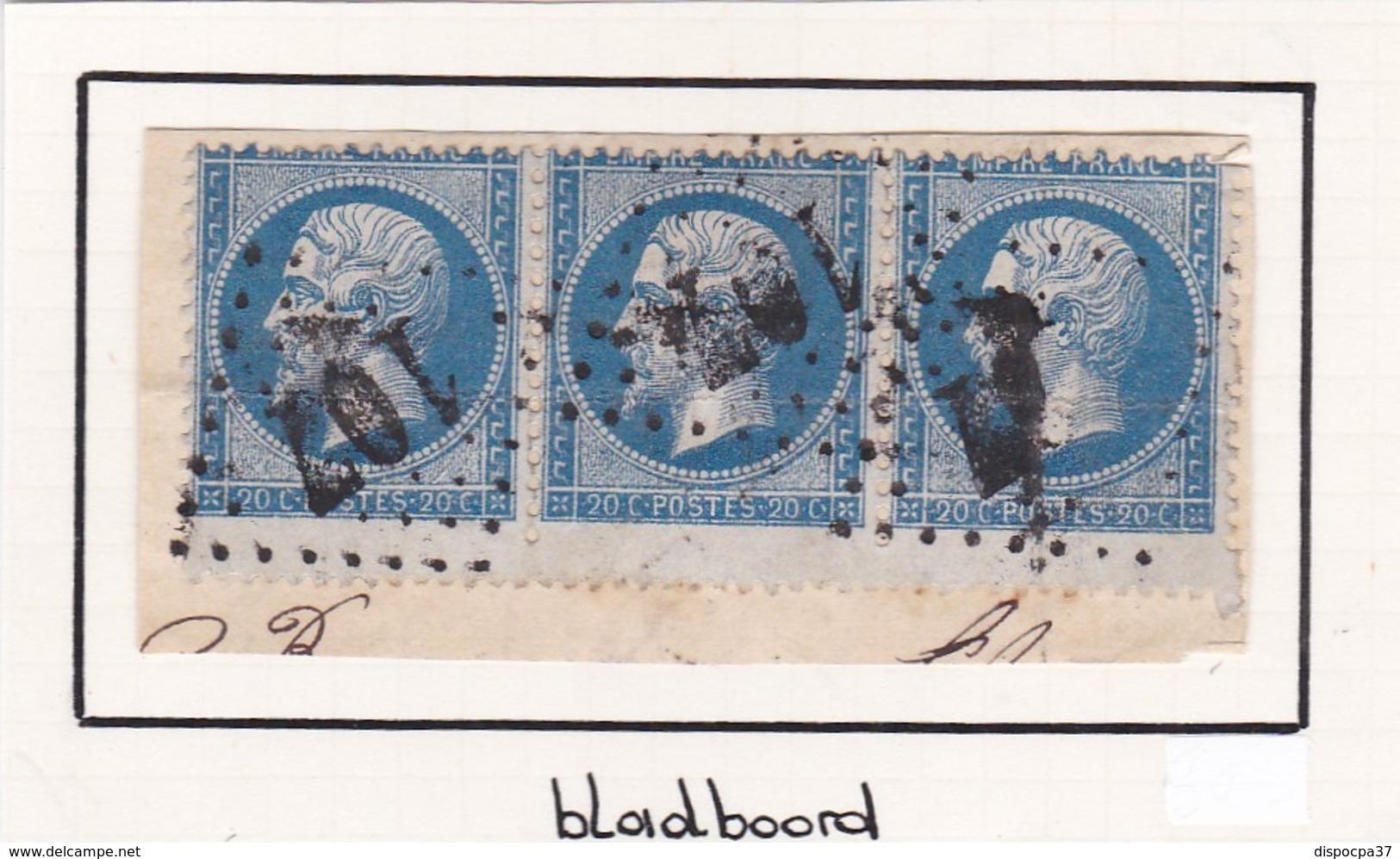 N° 22 -   GC  107   ANICHE    /  NORD    LOT 11941    VARIETE  AVEC BEAU BORD DE FEUILLE  Voir Scan - 1862 Napoleon III