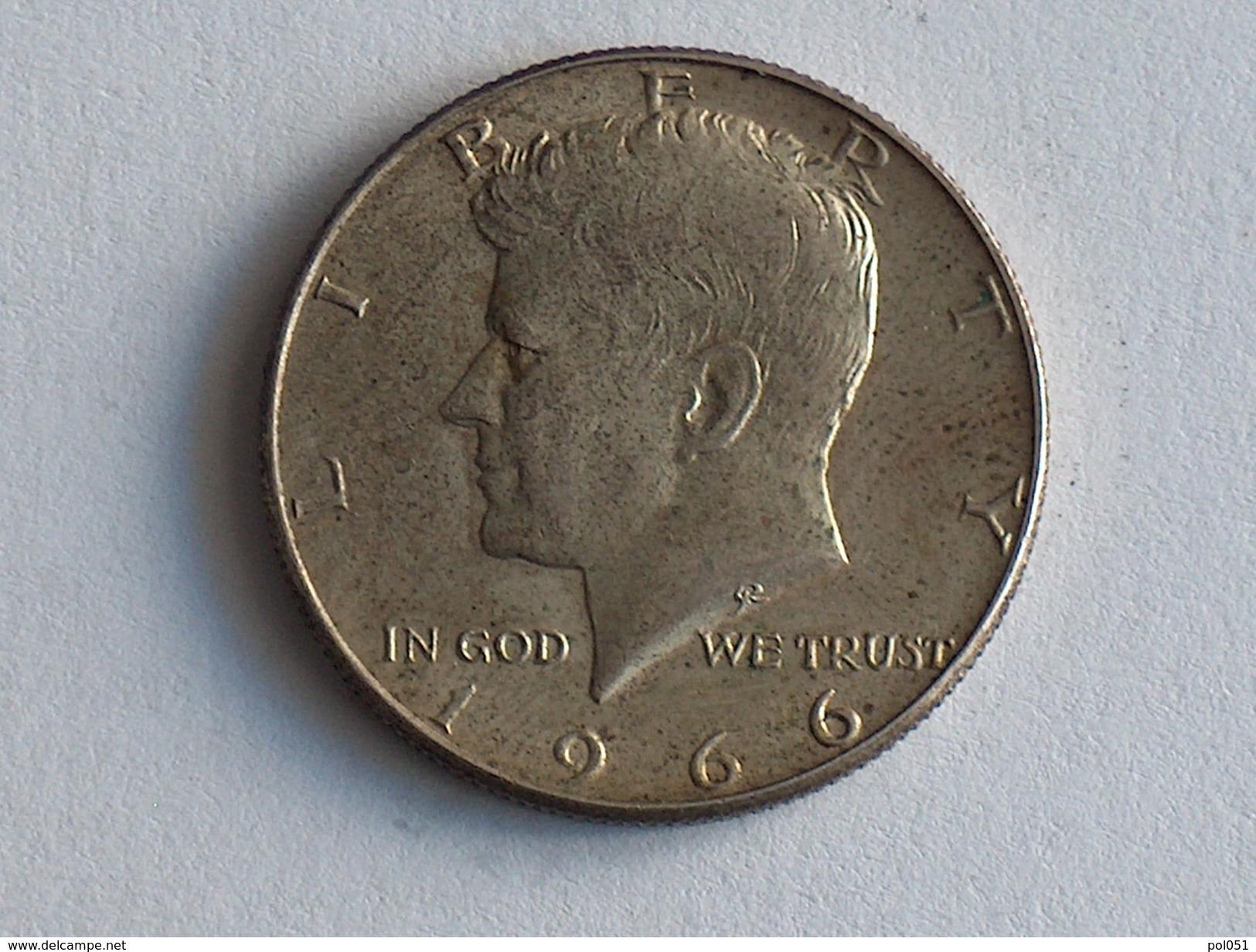Etats-Unis, United States, USA - Half 1/2 Dollar 1966 1966P - KENNEDY - Silver, Argent - Federal Issues