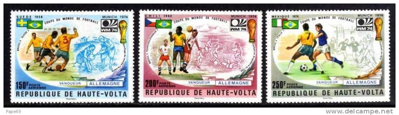 Haute Volta P.A. N° 180 / 82  XX  Vainqueurs De La Coupe Du Monde De Football, Les 3 Valeurs  Sans Charnière TB - Upper Volta (1958-1984)