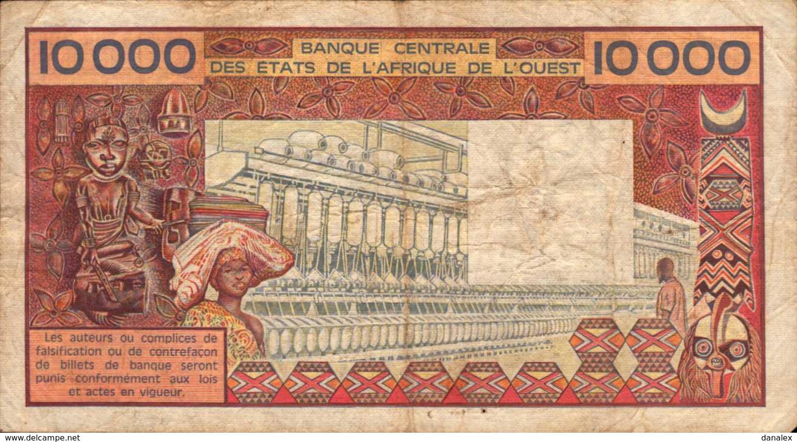 BENIN  10000 FRANCS De 1991nd  Pick 209j  RARE - Benin