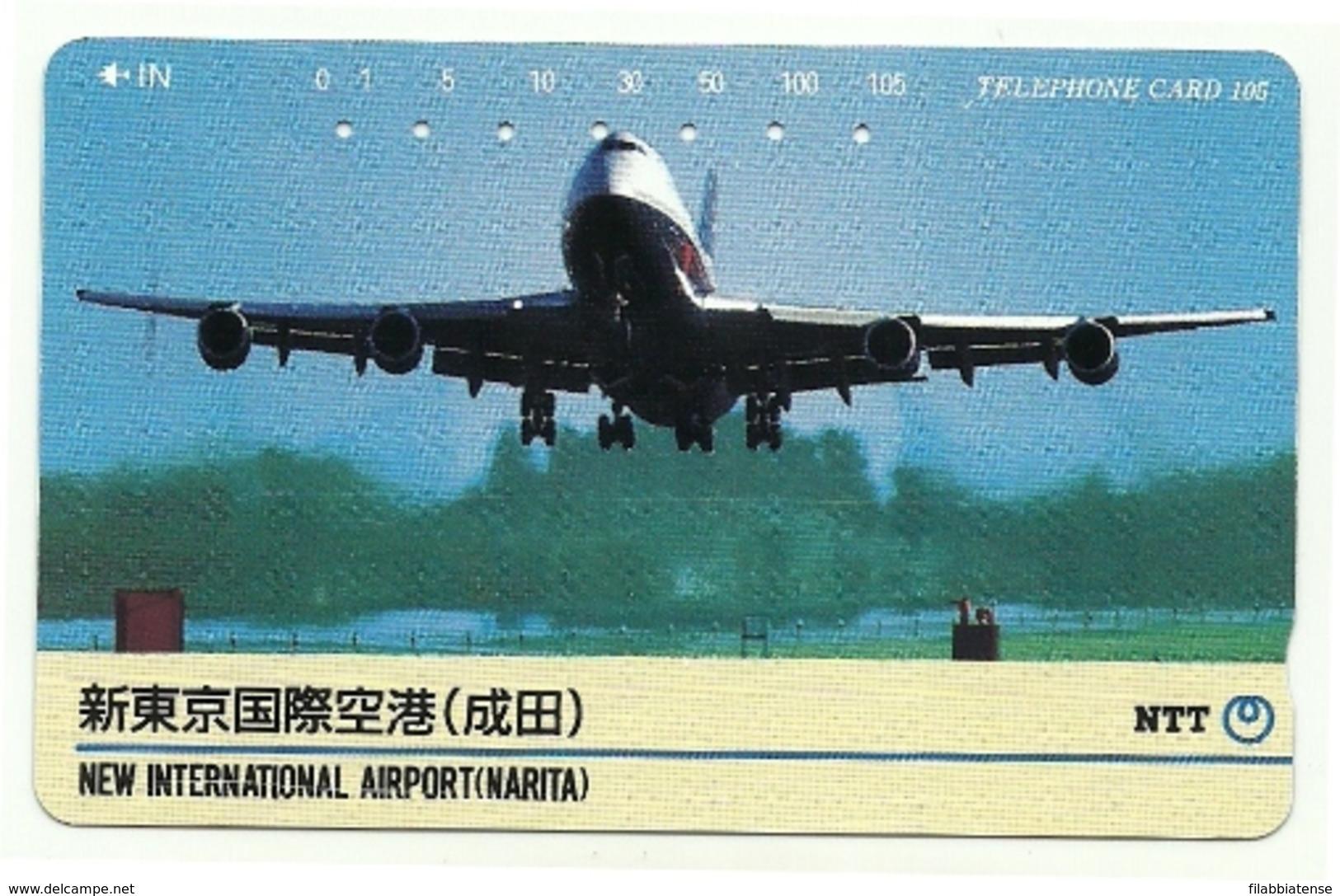 Giappone - Tessera Telefonica Da 105 Units T184 - NTT, - Avions