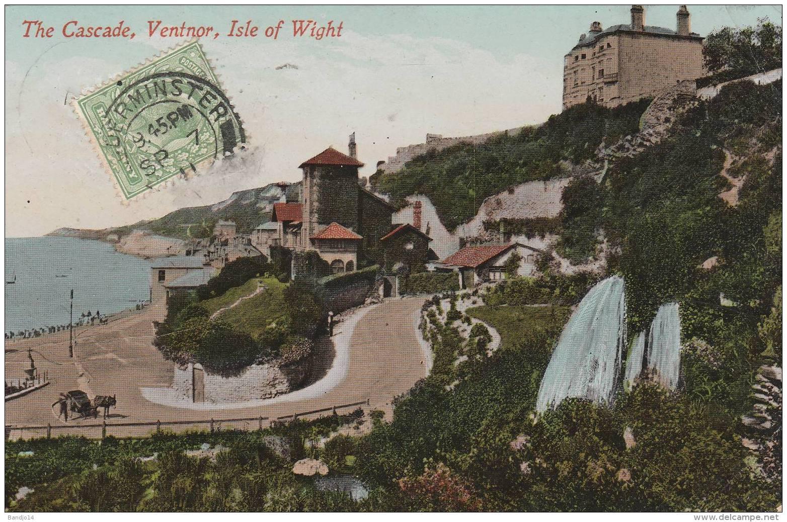 Isle Of Wight - The Cascade Ventnor - Scan Recto-verso - Angleterre