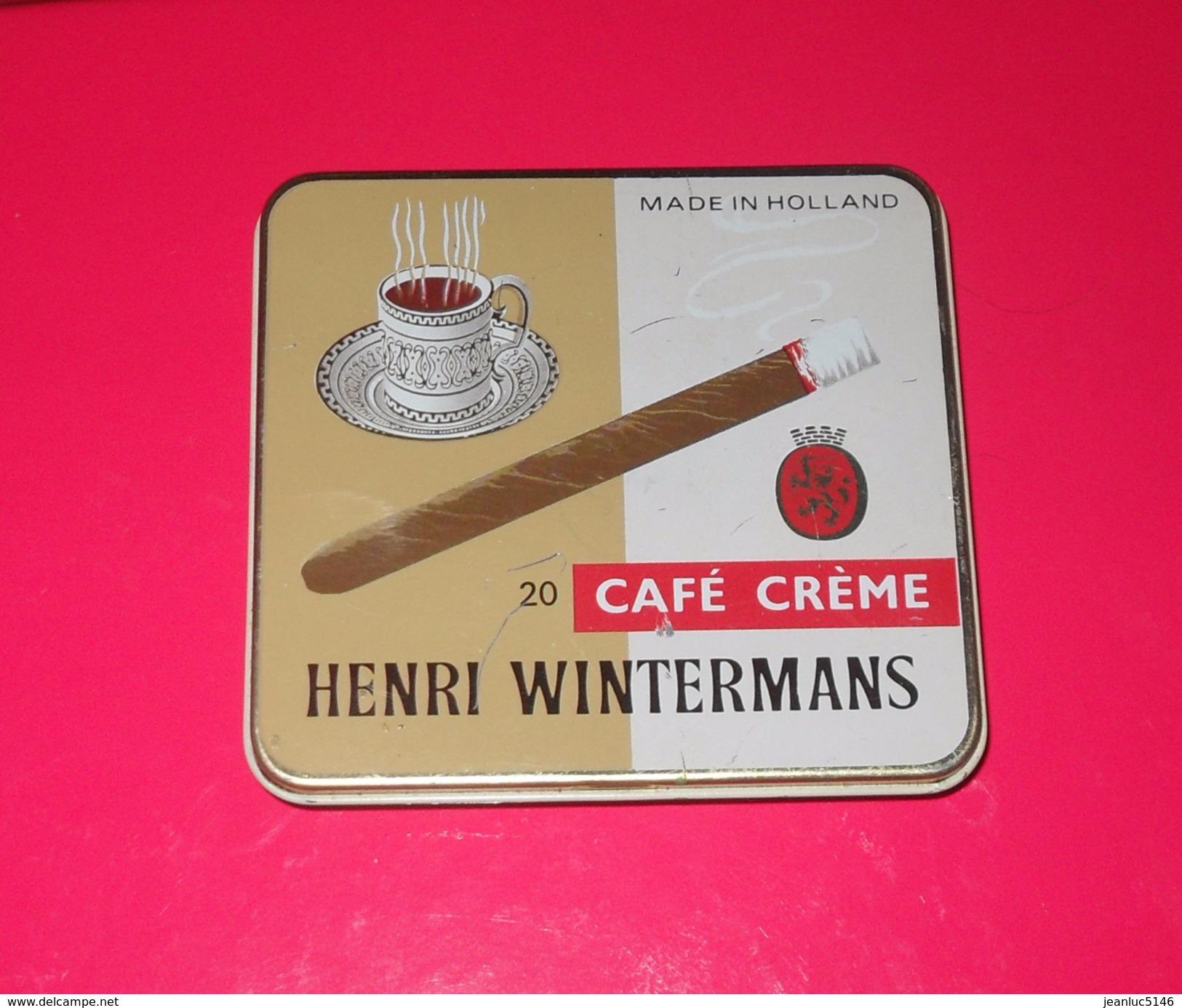 Boîte Métallique. Henri Wintermans - 20 Café Crème. - Contenitore Di Sigari