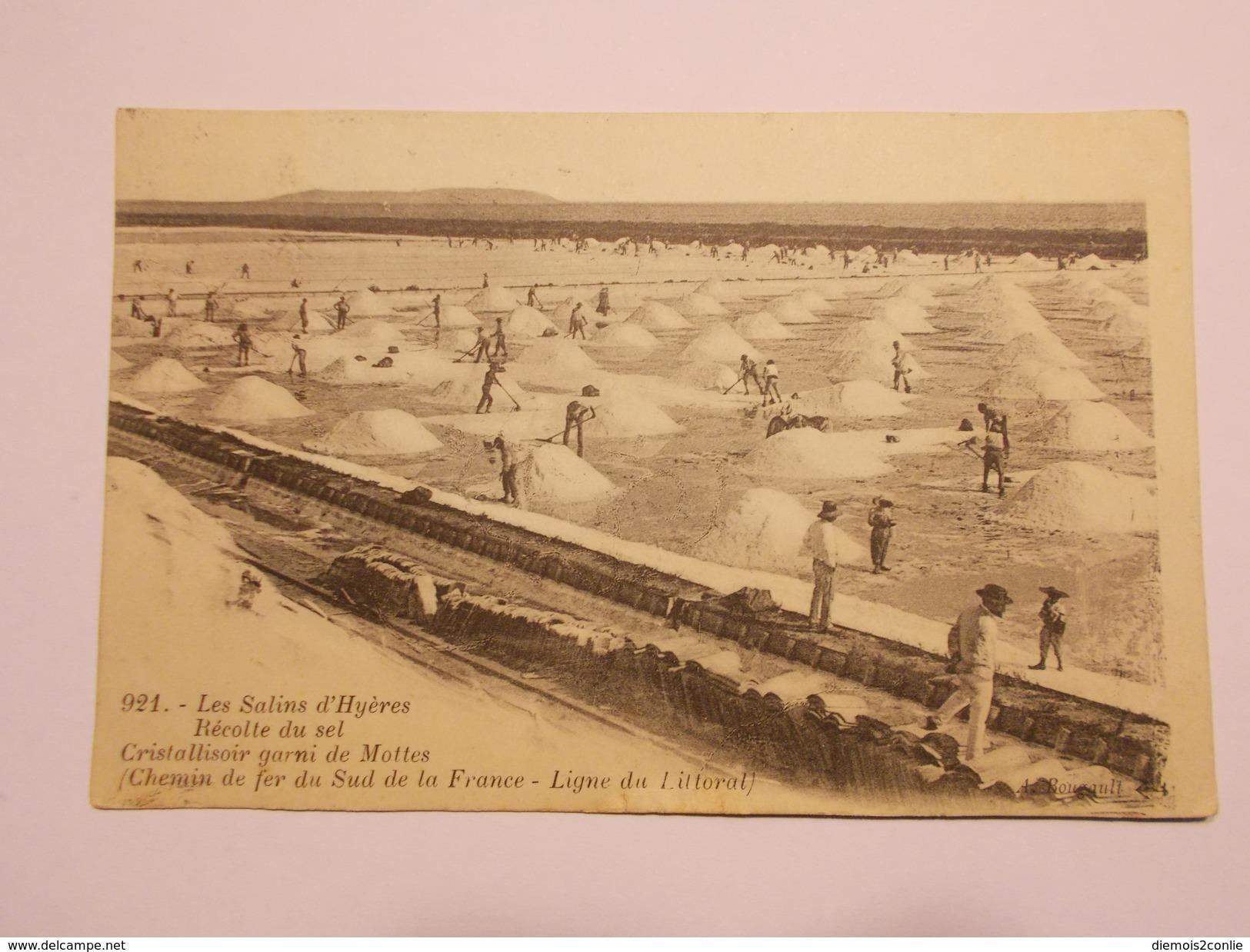 Carte Postale - Les Salins D'HYERES (83) - Récolte Du Sel - Cristallisoir Garni De Mottes (136/130) - Hyeres