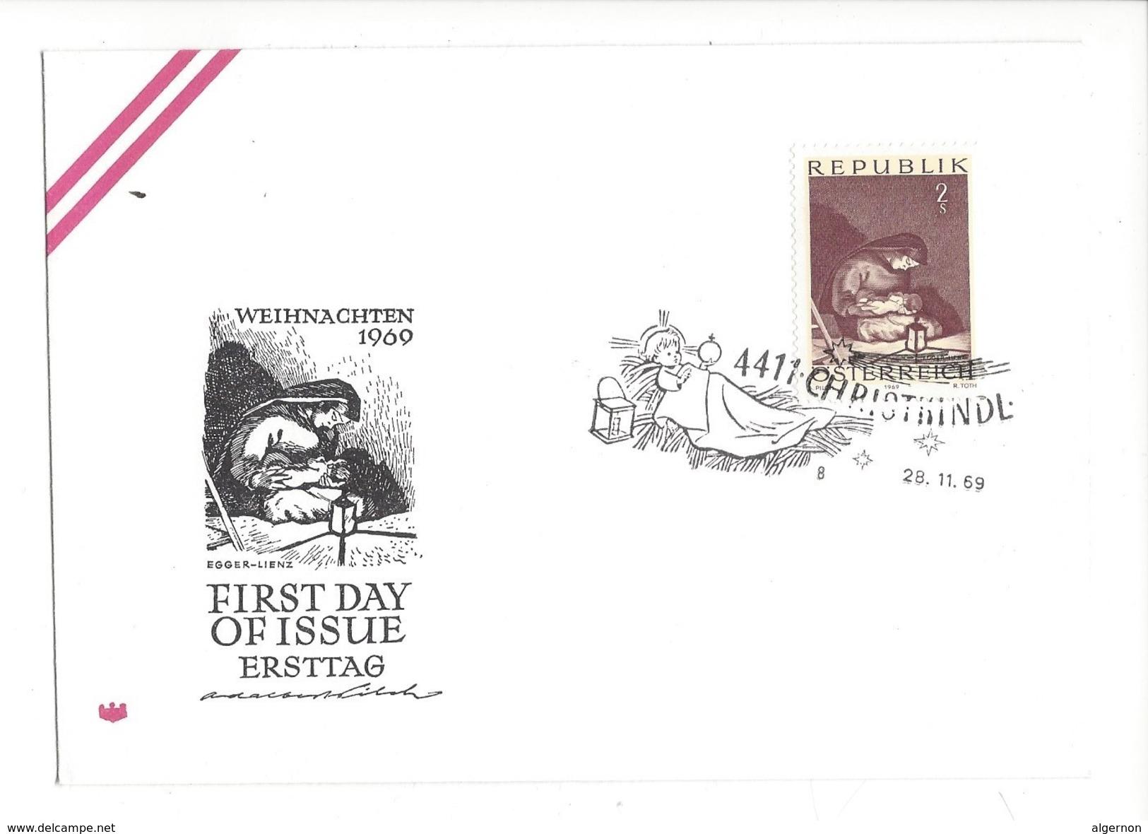16020 - Christkindl Cover 28.11.1969 Weihnachten Egger-Lienz - Noël