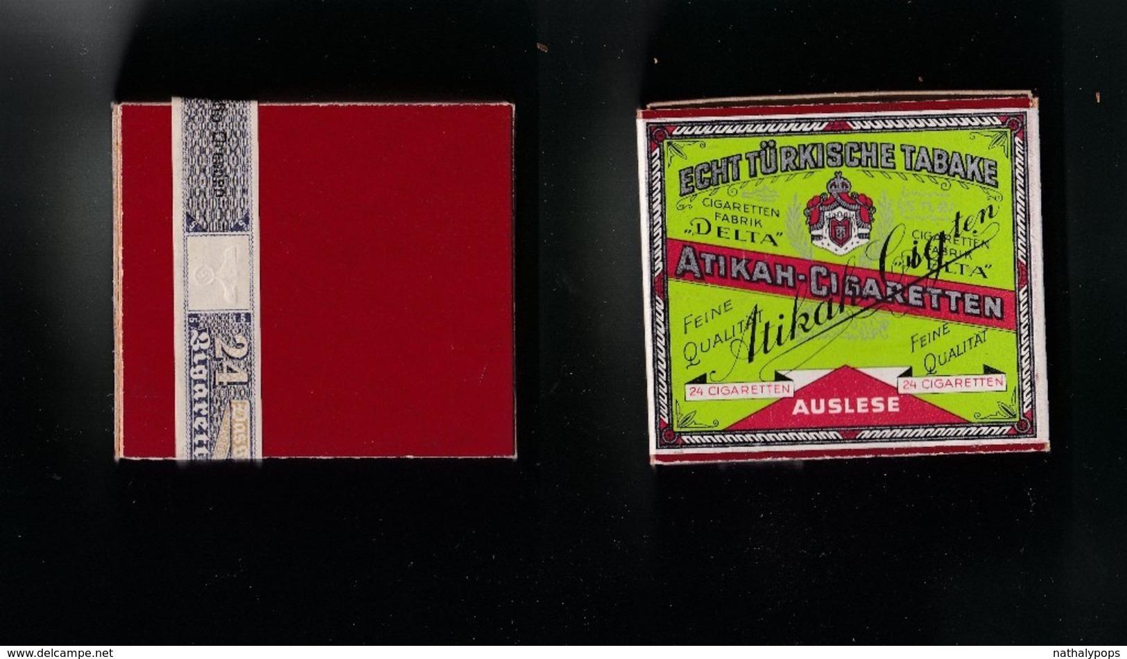ANCIEN PAQUET DE 24 CIGARETTES ATIKAH CIGARETTEN Pour La Collection - Zigarettenetuis (leer)