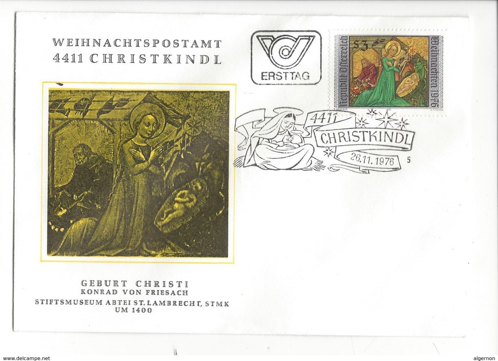 16028 - Christkindl Cover 26.11.1976 Geburt Christi Konrad Von Friesach - Noël