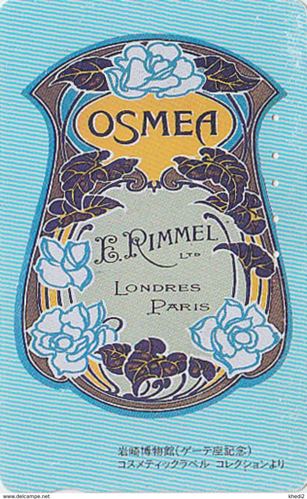 Télécarte Japon / 110-011 - PARFUM - OSMEA * RIMMEL / LONDON PARIS FRANCE - PERFUME Japan Phonecard - PARFÜM - 247 - Perfume