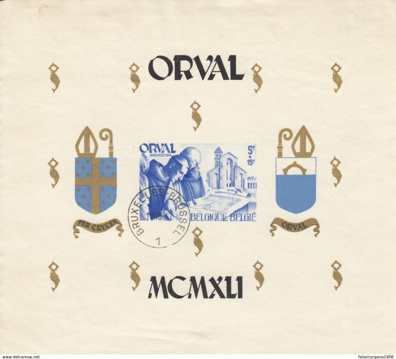 BELGIQUE Belgie Belgio Belgien - 1941 - Orval - Foglietto Non Dentellato Yvert BF12 - Nuovo E Perfetto. MNH - Panes